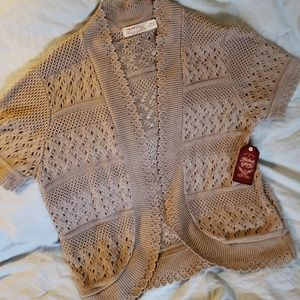 Beige knit Shrug